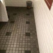 Grout before