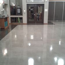 cleaned floor